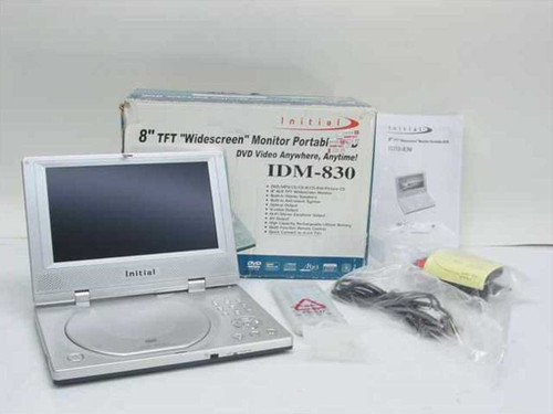 "Initial IDM-830  8"" TFT ""Widescreen"" Monitor Portable DVD"
