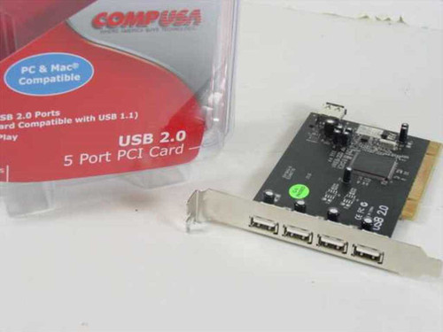 CompUSA PCI-USBNEC101-5P-2  USB 2.0 5 Port PCI Card