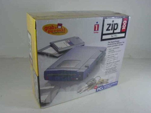 Iomega 10919  ZIP 100 Parallel Port - New in Retail Box