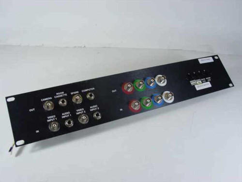 Patch Panel 4-Button  Audio Visual Video Rackmount - Coax Line Input Switch