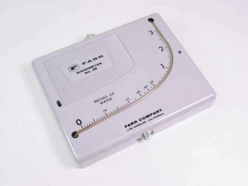Farr Company 25  Manometer