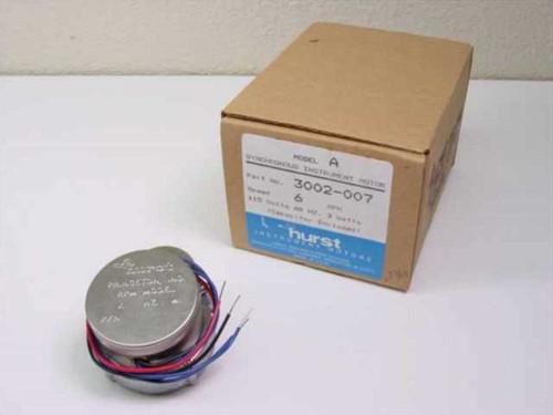 Hurst Manufacturing 3002-007  Model A Gear Motor 6 RPM 115VAC