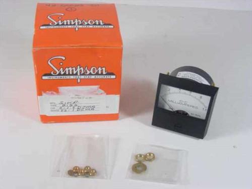 Simpson  2122 0-1.0 DCMA  Meter DC Milliamperes 2.5 Inch Century