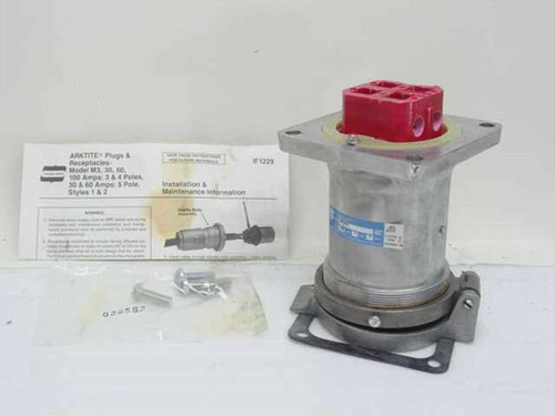 Crouse-Hinds AR1041  Arktite M3 Receptacle 100A Grounded Weatherproof