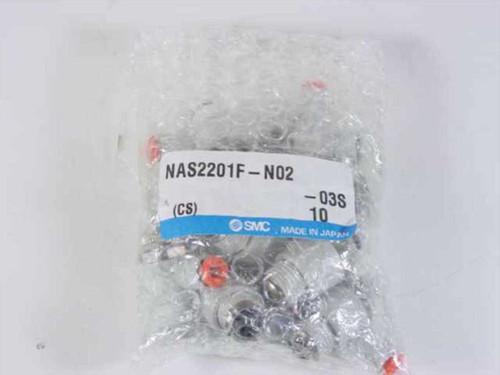 SMC NAS2201F-N02  Pipe Air Fittings - Pkg 10