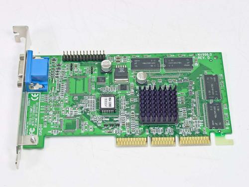 VisionTek AGP Video Card 32MB Nivida Riva (NV996.0 Rev D)
