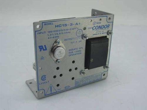 Condor HC15-3-A&  Power Supply 15Volt 3 Amp