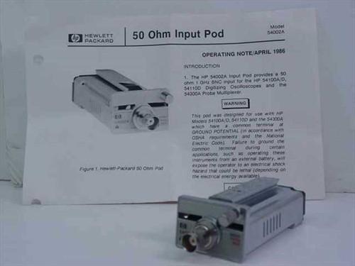 Hewlett Packard 54002A  50 Ohm Input Pod for Oscilloscope