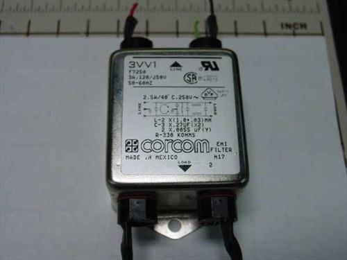 Corcom EME Filter H17 F7250 120/250V 3A 50-60HZ (3VV1)