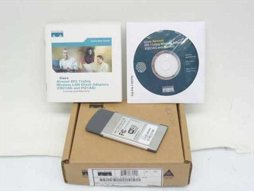 Cisco Air-CB21AG-A-K9  Aironet 802.11 a/b/g PCMCIA Network Card