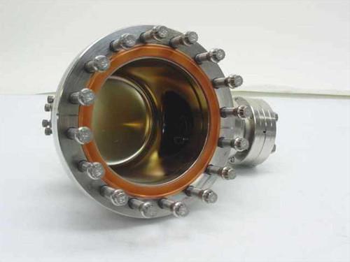 Generic Vacuum Chamber End Cap  Stainless Steel 4 Inch x 4 Vacuum Gauge