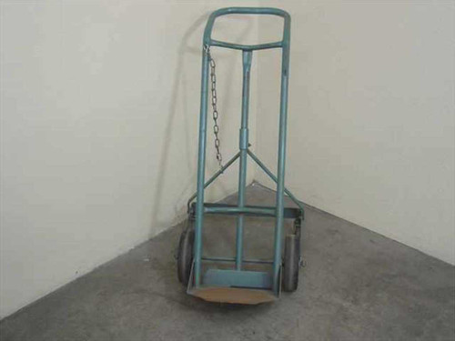 Gas Cart  Blue Two Wheel Dolly with Safety Chain