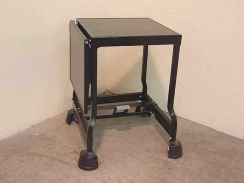 TSF Tiffany Black  Rolling metal cart w/dropleaf extension