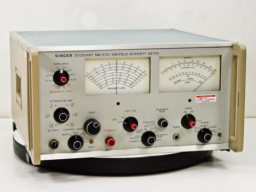 Singer Stoddart NM-17/27  EMI Field Intensity Meter 9kHz to 32 MHz