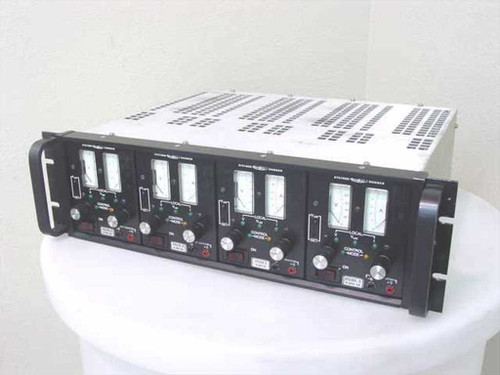 "Systron Donner 19"" Power Supply Rack  Rack Mount with Plug Ins 0-100 Volts .5-2 Amps"
