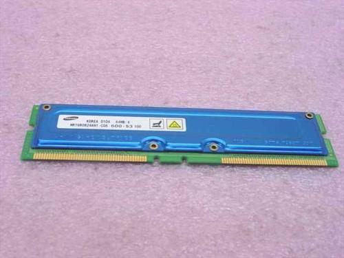 Samsung MR16R0824AN1-CG6  64MB Rambus 184-pin PC600-53 NonECC RDRAM RIMM