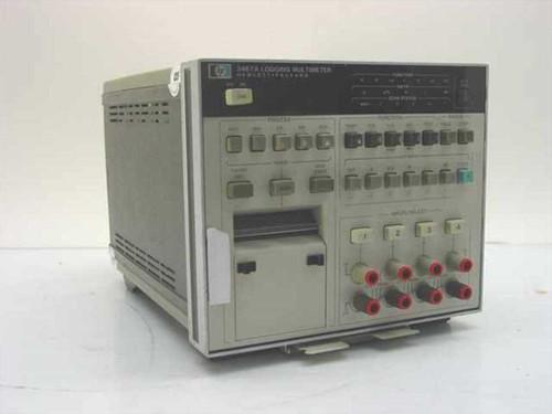 HP 3467A  Logging Multimeter 4 1/2 digit, scanner, printer
