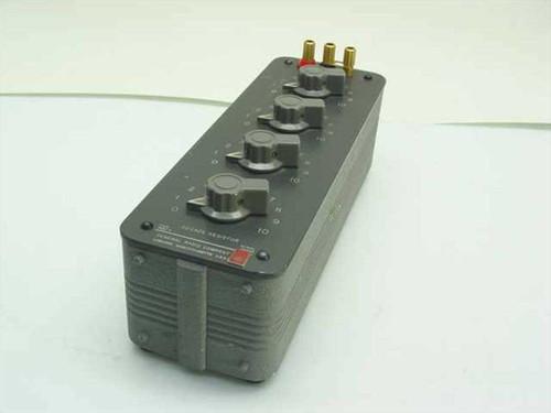General Radio 1432-K  4-Dial Decade Resistor