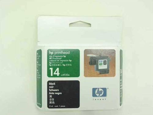HP C4920A  Printhead 14 Black for Printer CP1160, Copier 610