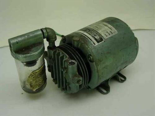 Gast  0211-V1120-GBCX   Vacuum Pump 20 HG with GE 5KD32EG 1/6 HP AC Motor