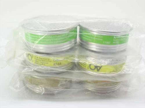 Aearo Co. Chemical Cartridges  6 For Respirators/Gas Masks