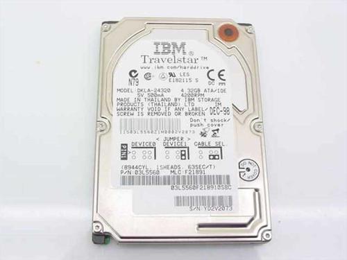 "IBM 03L5560  4.3GB Travelstar 2.5"" Laptop Hard Drive DKLA-24320"