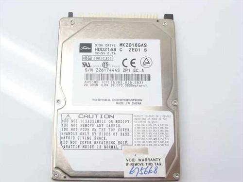 "Toshiba MK2018GAS  20.0GB 9.5mm 2.5"" Laptop Hard Drive"