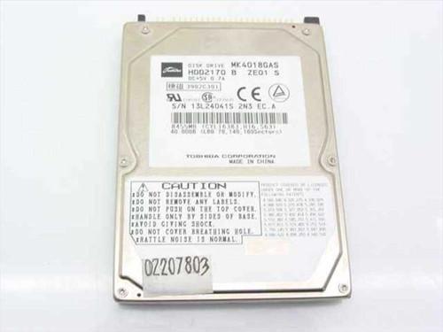 "Toshiba MK4018GAS  40.0GB 9.5 mm 2.5"" 4200 RPM Laptop Hard Drive"