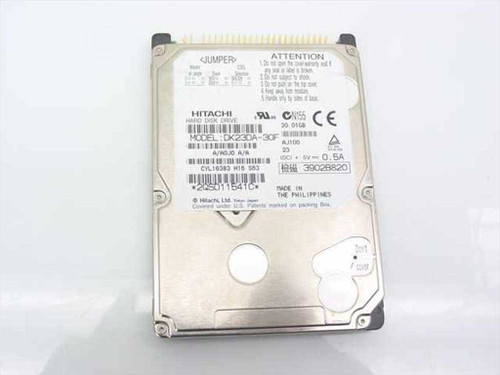 Hitachi DK23DA-30F  30.0GB 9.5mm Laptop Hard Drive