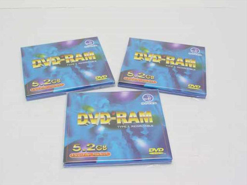 Hotan DVD-Ram  5.2GB Double Sided Type 1 Rewritable Disc