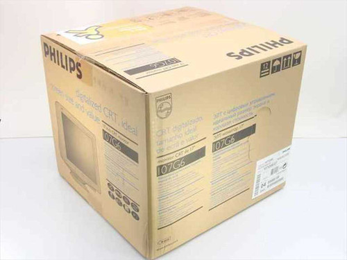 "Philips 107G66/27  17"" 107G6 CRT Black Computer Monitor w/Original Box"