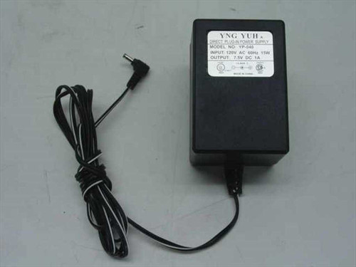 YNG YUH YP-040  AC Adapter 7.5VDC 1A Direct Plug In
