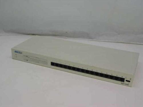 Maxtech HX-16  USDE Ethernet Hub 16 RJ45, 1 AUI, 1 BNC Ports