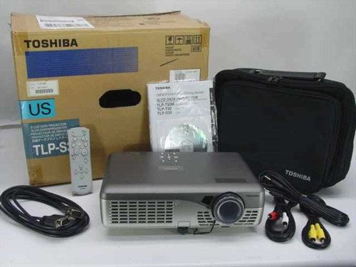 Toshiba TLP-S30  3 LCD Data Projector No Lamp Untested in Box