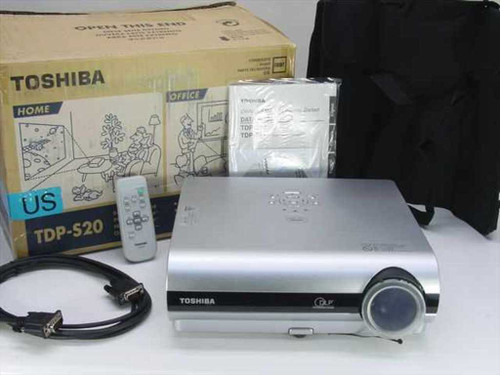 Toshiba TDP-S20  Digital Projector No Lamp, Untested