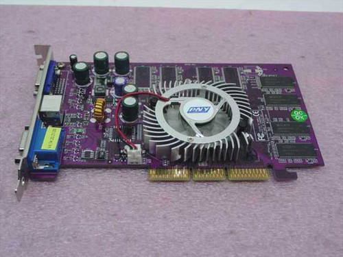 PNY Technologies FX5200  AGP Video Card GeForce 128 MB DDR Dual VGA S-Video
