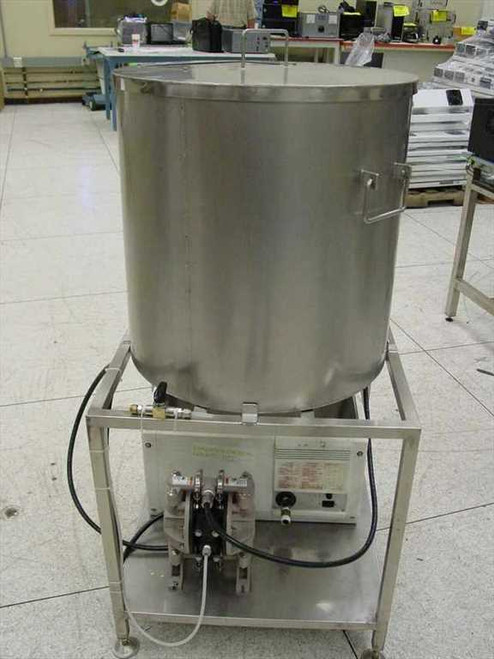 "Stainless Steel Vat  22"" x 22"" with Lid w/ ARO Air Pump Holding TanK ~!"