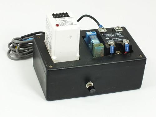 Square D 120/240VAC Timer Relay 0.05s-999hr w/ Crydon D1D40 Relay 9050JCK70V14