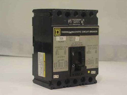 Square D FAL34050  Thermal Magnetic Circuit Breaker