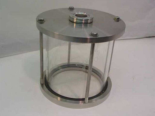 "Generic Glass  9"" Vacuum Jar Test Chamber with Port"