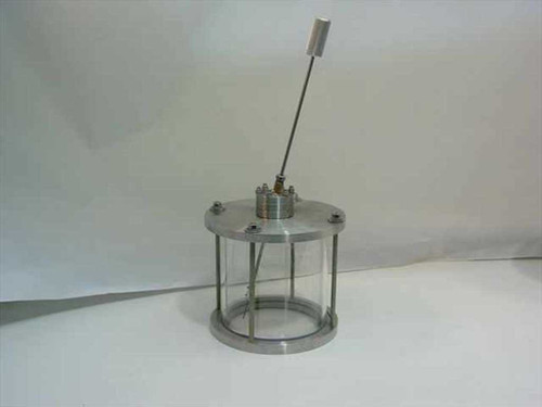 """Vacuum Chamber 8 3/4""""  Glass and Stainless Steel with Wobble Stick"""