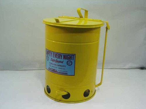 Ex-Cell Metal Products 21R1  SafeGuard Oily Waste Can