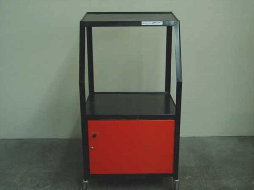 Bretford Cabinet TV Cart Red door