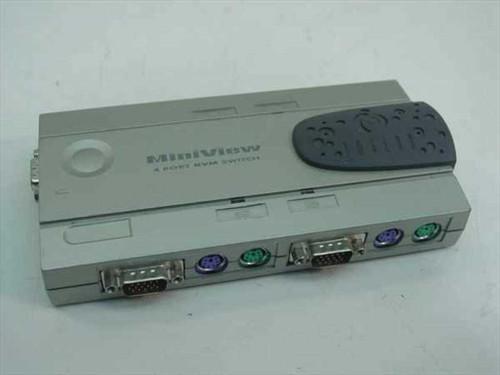 IOGEAR G-CS-14  4 Port KVM Switch MiniViewer