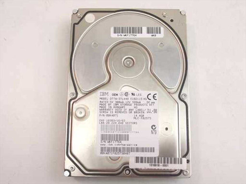 "IBM 14.4GB 3.5"" IDE Hard Drive (00K4071)"