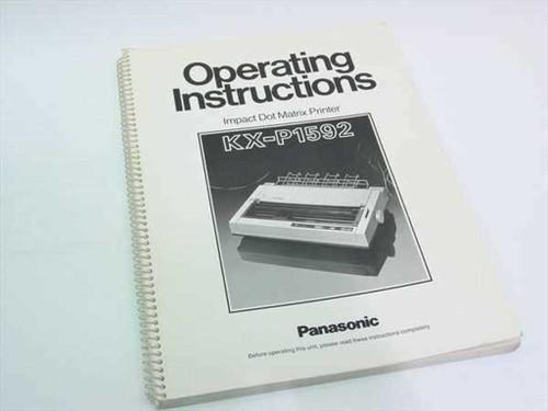 Panasonic KX-P1592  Operations Instructions - Manual