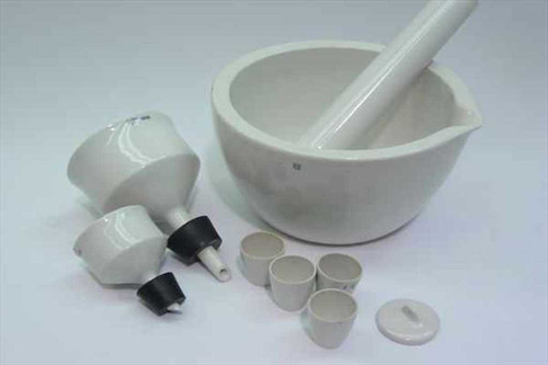 Coors Various  Ceramic Mortar Bowl Pestle & Cups 8 Pieces