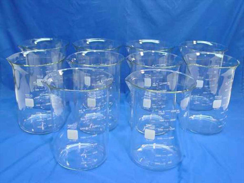 Pyrex 1-4L  1 Lot Griffin 4000ML Beakers 10 Each