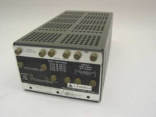 Lambda Electronics LCS-C-24  Regulated Power Supply 24 Volts DC 3.6 Amps