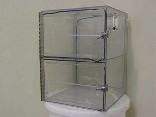 """Dwyer Instruments Dry Box  Plexiglass Dry Box Cabinet 16 1/2"""" x 19"""" x 24"""